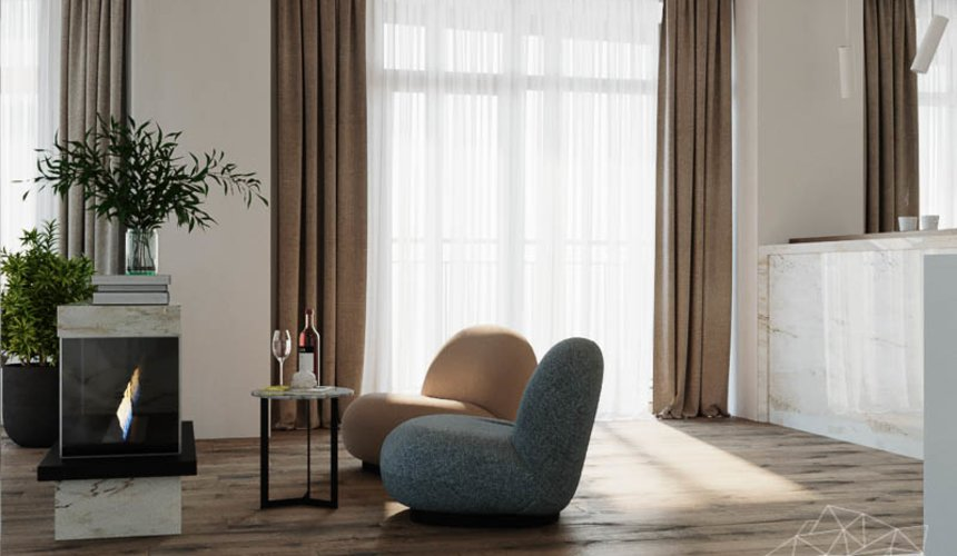 Дизайн интерьера трехкомнатной квартиры в ЖК Чемпион Парк 7