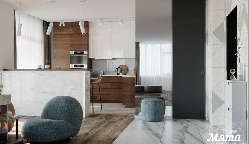 Дизайн интерьера трехкомнатной квартиры в ЖК Чемпион Парк 8