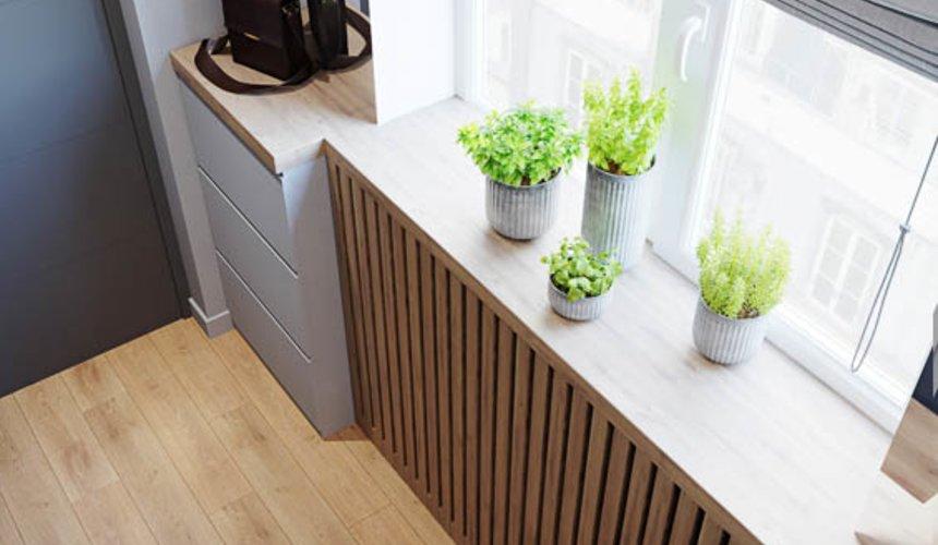 Дизайн интерьера однокомнатной квартиры в ЖК Оазис 16