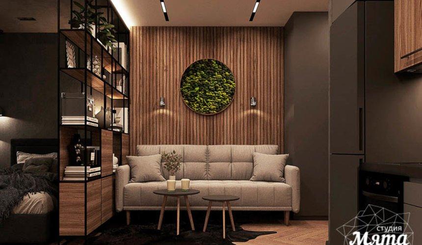 Дизайн интерьера квартиры - студии в ЖК Гринвуд 2