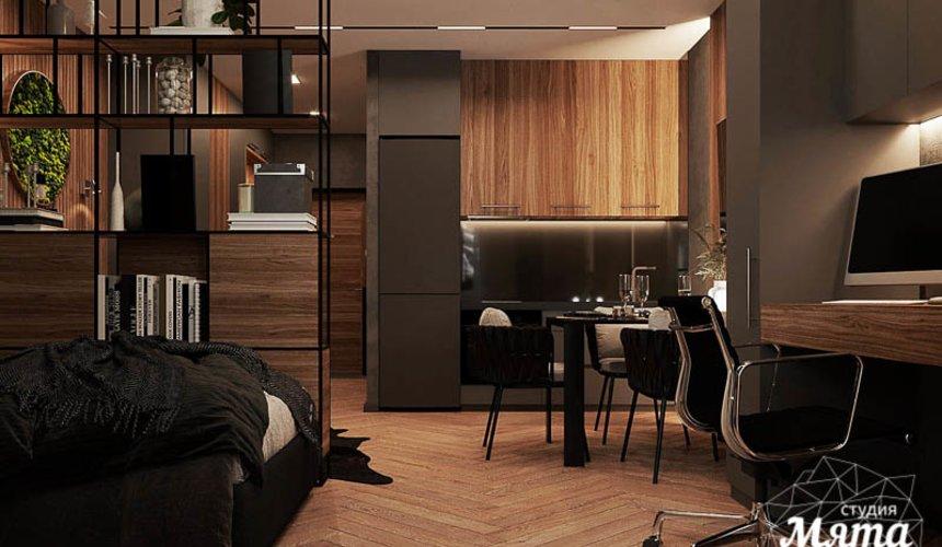 Дизайн интерьера квартиры - студии в ЖК Гринвуд 4