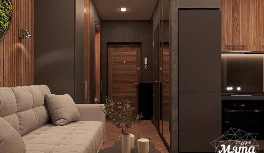 Дизайн интерьера квартиры - студии в ЖК Гринвуд 6