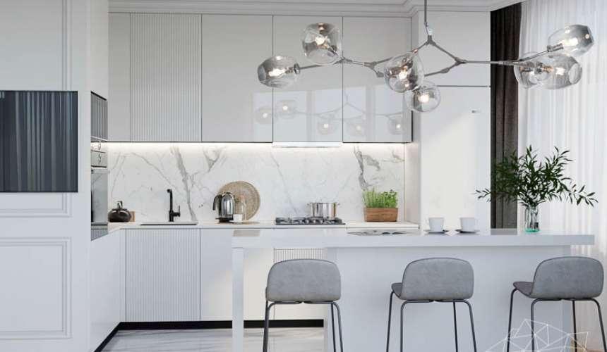 Дизайн интерьера двухкомнатной квартиры в ЖК Чемпион Парк 6