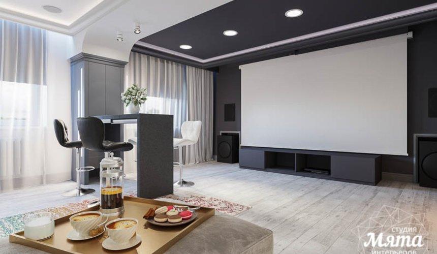 Дизайн интерьера домашнего кинотеатра в коттедже п. Кашино 7