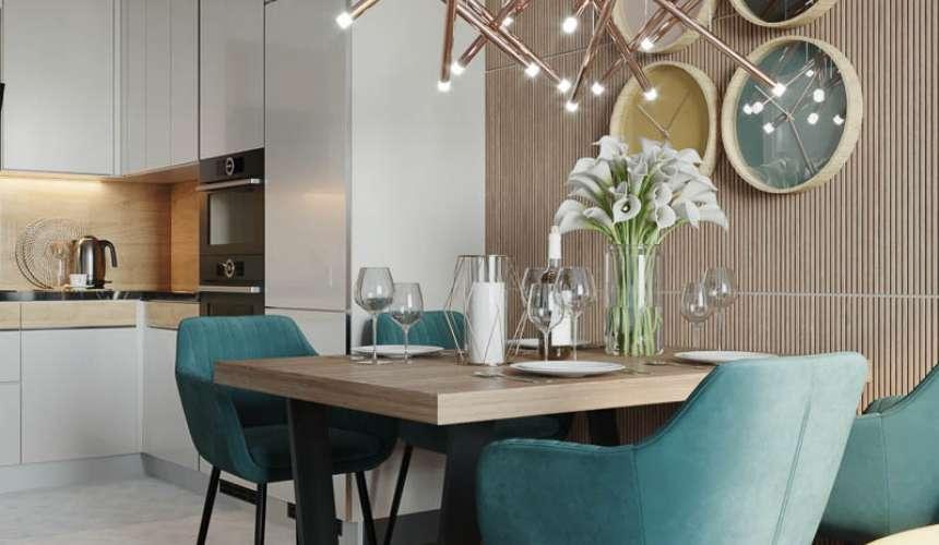 Дизайн интерьера двухкомнатной квартиры в ЖК Репин Парк 2