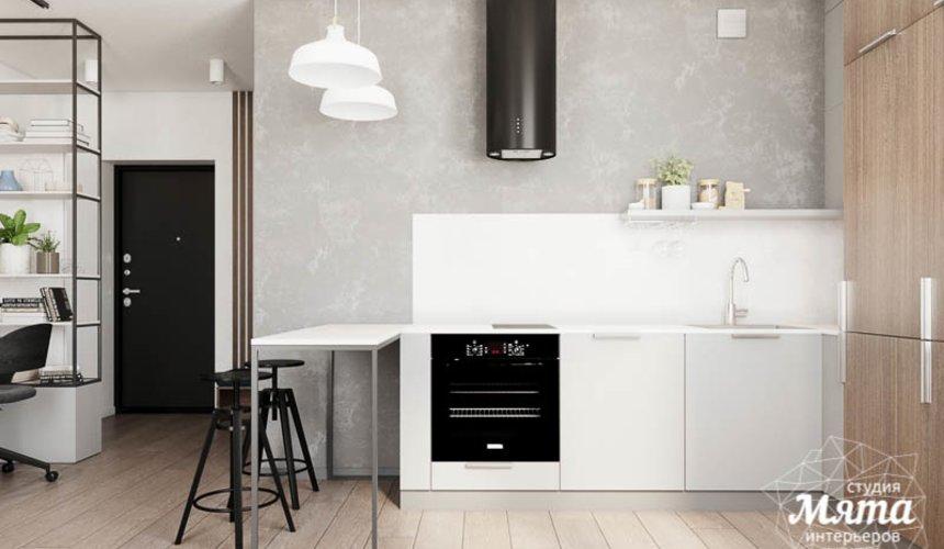 Дизайн интерьера квартиры - студии в ЖК Стрелки 8