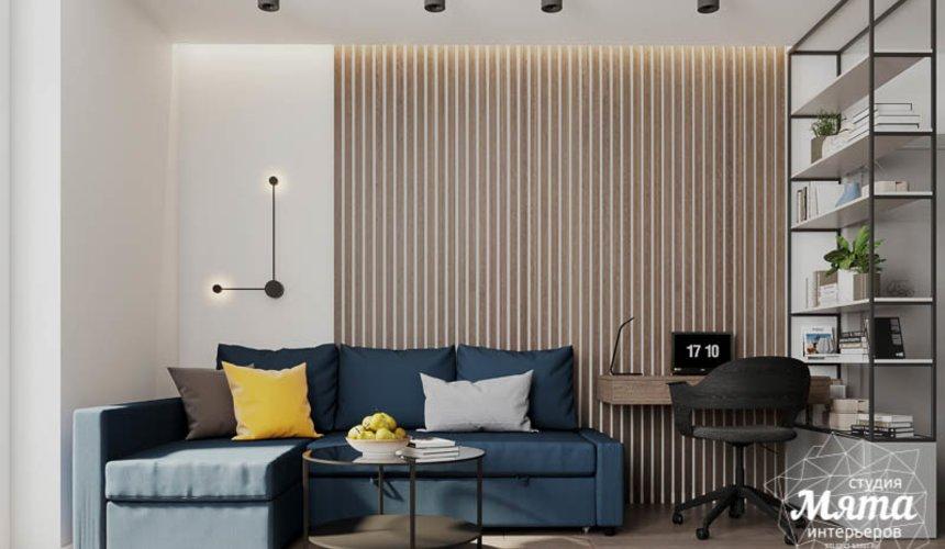Дизайн интерьера квартиры - студии в ЖК Стрелки 2
