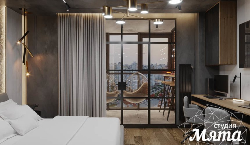 Дизайн интерьера квартиры в стиле лофт 12