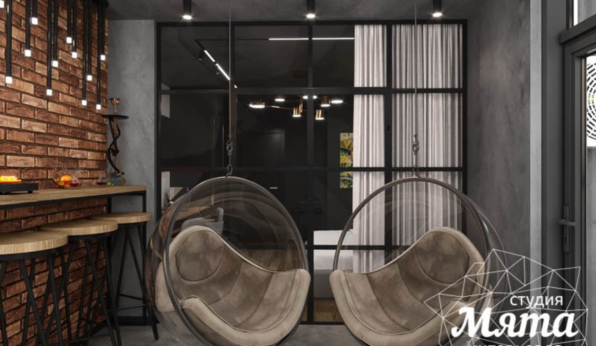 Дизайн интерьера квартиры в стиле лофт 15