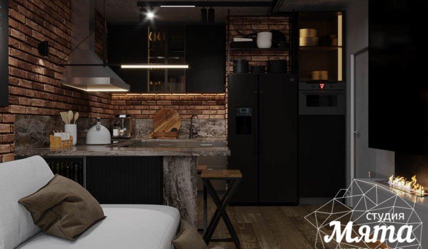 Дизайн интерьера квартиры в стиле лофт 21